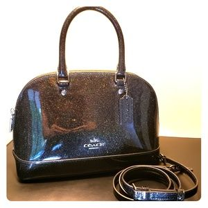 Coach Mini Sierra Black Patent Leather Satchel